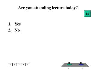 Are you attending lecture today?