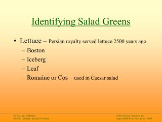 Identifying Salad Greens