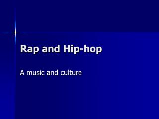 Rap and Hip-hop