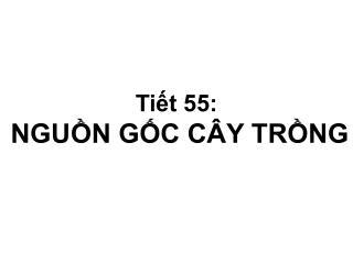 Ti?t 55: NGU?N G?C C�Y TR?NG