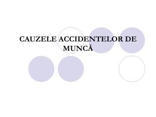 CAUZELE  ACCIDENTELOR DE MUNCĂ