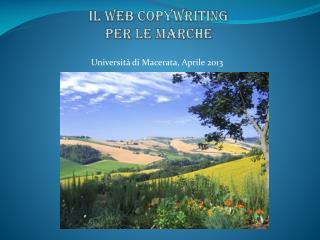 Il Web  copywriting per le Marche