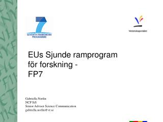 EUs Sjunde ramprogram för forskning -  FP7