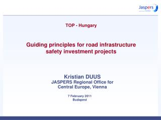 TOP - Hungary Guiding principles for road infrastructure  safety investment projects