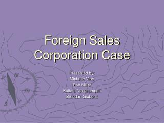 Foreign Sales Corporation Case