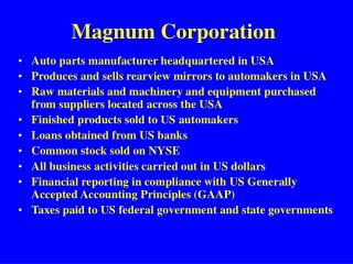Magnum Corporation