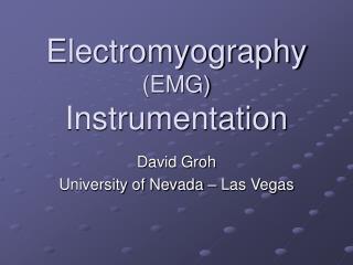 Electromyography EMG Instrumentation