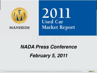 NADA Press Conference February 5, 2011