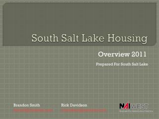 South Salt Lake Housing