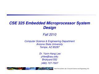 CSE 325 Embedded Microprocessor System Design  Fall 2010