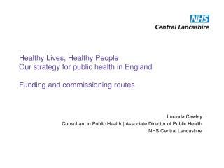 Lucinda Cawley Consultant in Public Health | Associate Director of Public Health