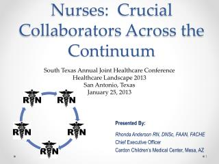Nurses:  Crucial Collaborators Across the Continuum
