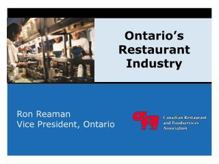 Ontario�s Restaurant Industry