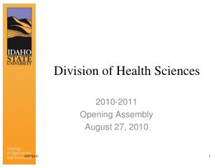 Division of Health Sciences