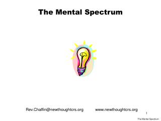 The Mental Spectrum