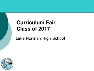 Curriculum Fair Class of 2017