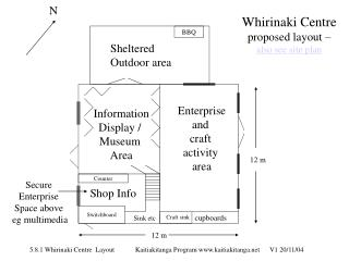 Whirinaki Centre proposed layout – also see site plan