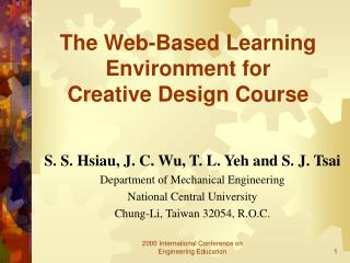 The Web-Based Learning Environment for  Creative Design Course
