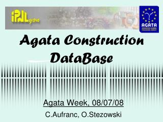 Agata Construction DataBase