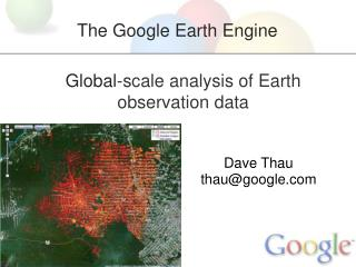 Global -scale analysis of Earth observation data