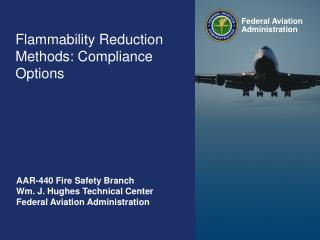 Flammability Reduction Methods: Compliance Options