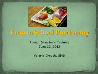 Farm to School Purchasing