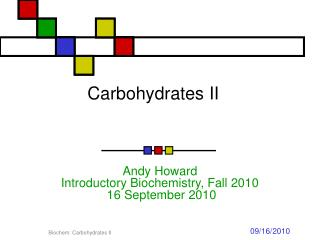 Carbohydrates II