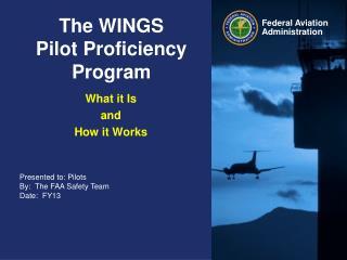 The WINGS  Pilot Proficiency Program