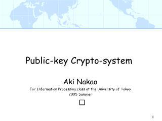 Public-key Crypto-system