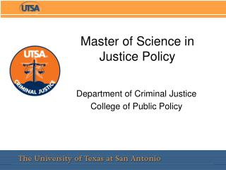 Master of Science in Justice Policy