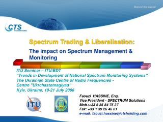 Spectrum Trading & Liberalisation: The impact on Spectrum Management & Monitoring