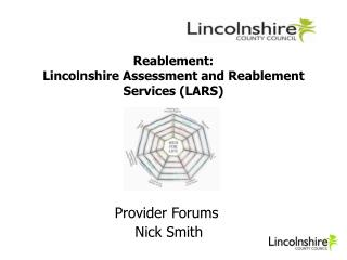 Reablement: Lincolnshire Assessment and Reablement Services (LARS)