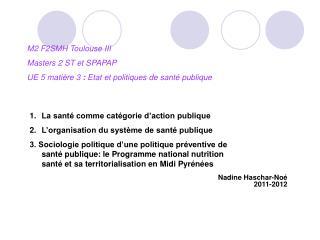 Nadine Haschar-Noé  2011-2012