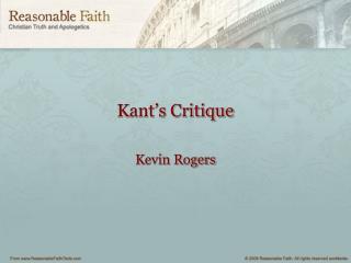 Kant's Critique