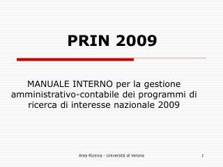 PRIN 2009