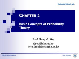 C HAPTER 2  Basic Concepts of Probability Theory