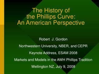 The History of the Phillips Curve: An American Perspective