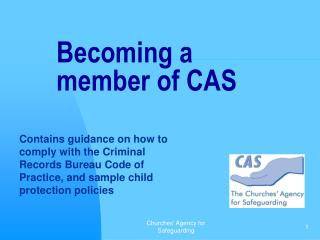 Becoming a member of CAS