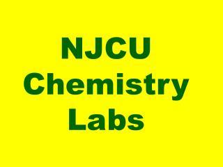 NJCU  Chemistry  Labs