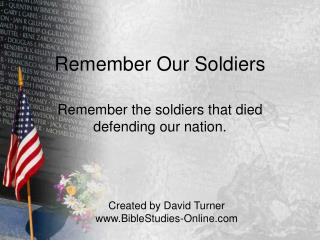 Remember Our Soldiers