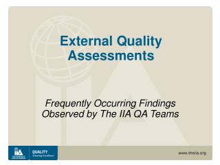 External Quality Assessments