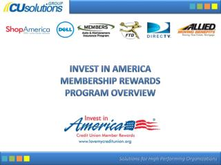 Invest in America Membership  Rewards Program Overview