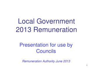 Local Government 2013 Remuneration