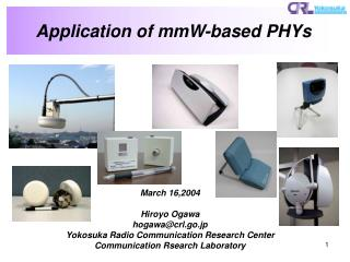 Application of mmW-based PHYs