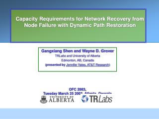 Capacity Requirements for Network Recovery from Node Failure with Dynamic Path Restoration