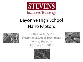 Bayonne High School Nano Motors