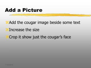 Add a Picture