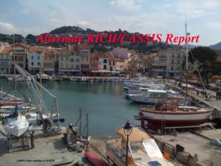 Alternate RICH/CASSIS Report