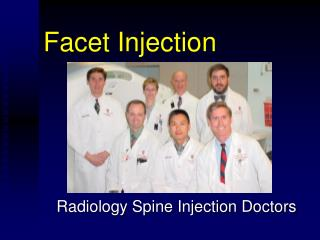 Facet Injection
