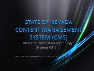 State of Nevada Content Management System (CMS)